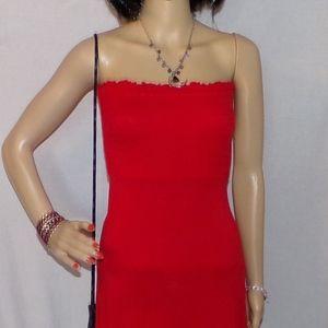 Gap Dress Red Strapless Dress Size X-Small